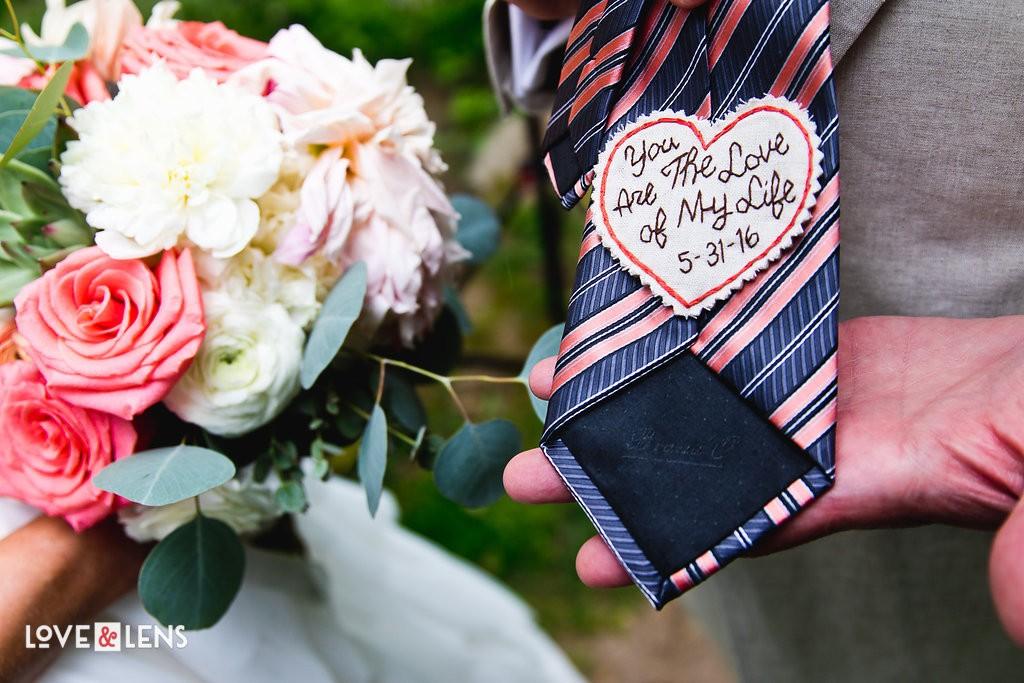 personalized wedding tie