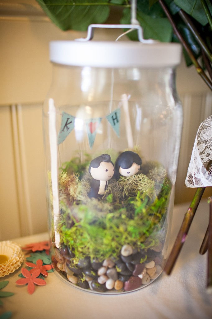 Wedgewood Weddings DIY wedding bride and groom terrarium