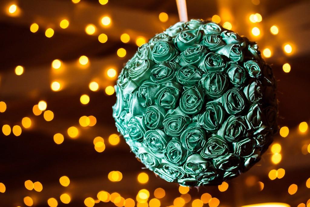 mint green wedding color scheme floral ball