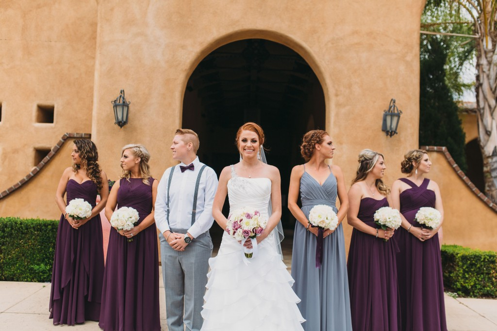 gorgeous bride with bridesmaids