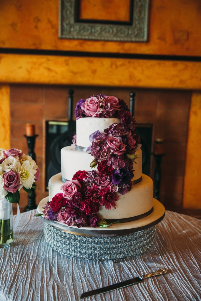 gorgeous wedding cake with floral detailing