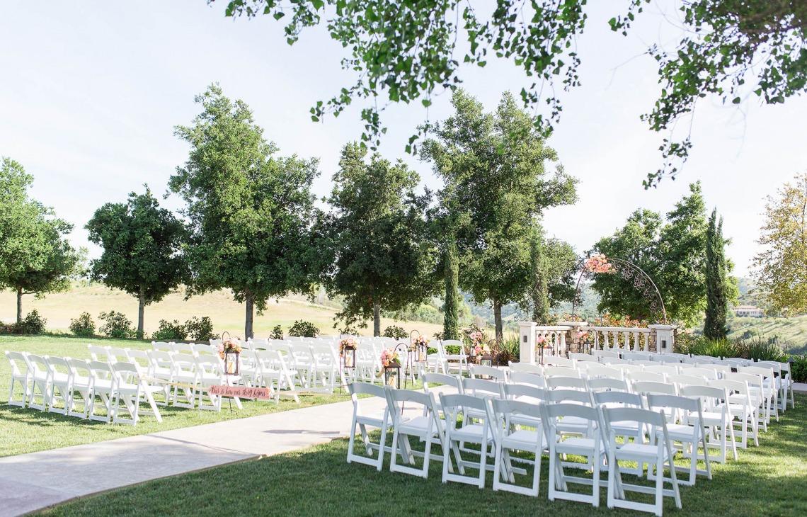 Garden ceremony site - Vellano - Chino Hills, California - San Bernardino County - Wedgewood Weddings