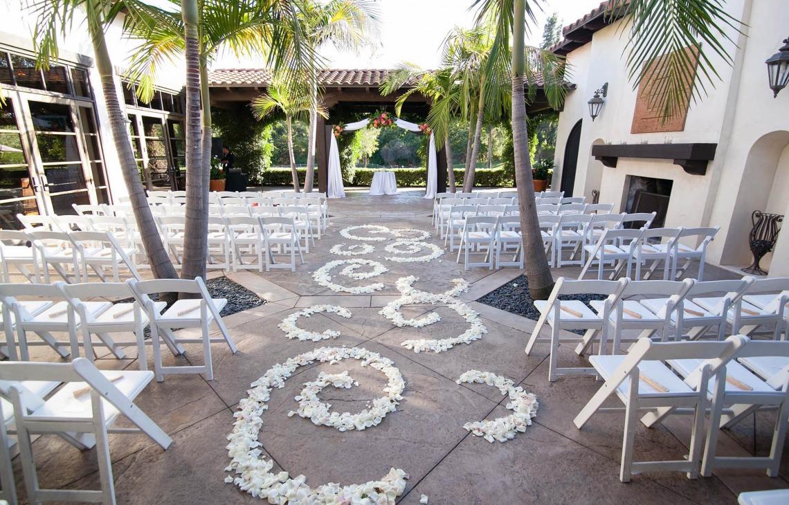Decorative ceremony floral - Fallbrook - Fallbrook, California - San Diego County - Wedgewood Weddings