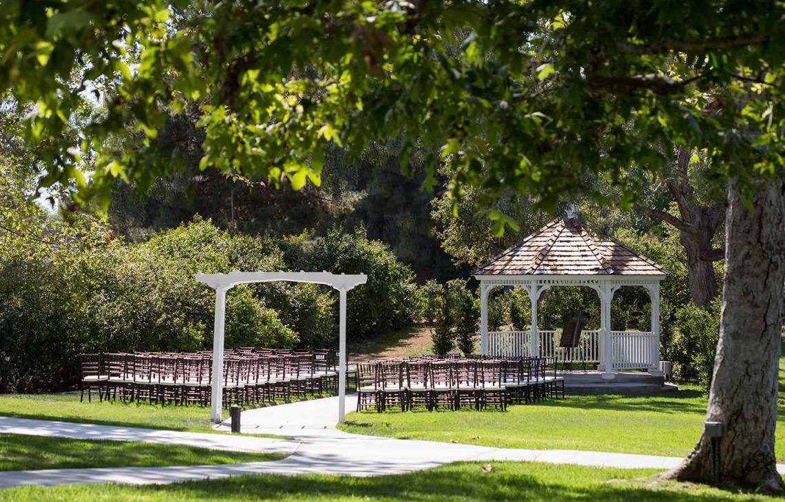 Garden gazebo - University Club - Irvine, California - Orange County - Wedgewood Weddings