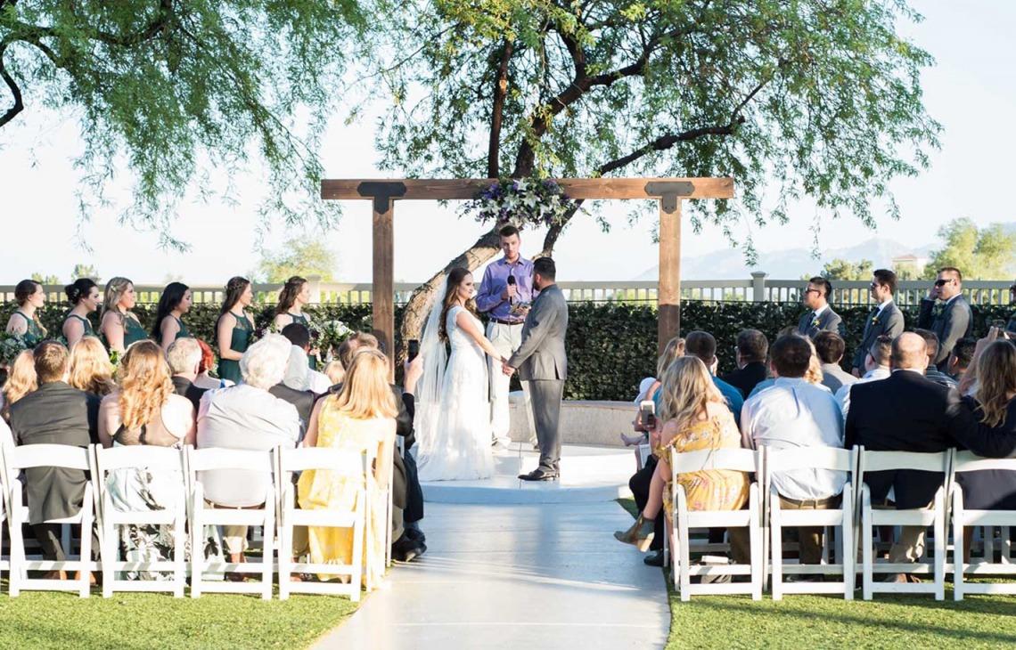 Beautifully updated ceremony site - Palm Valley - Goodyear, Arizona - Maricopa County - Wedgewood Weddings
