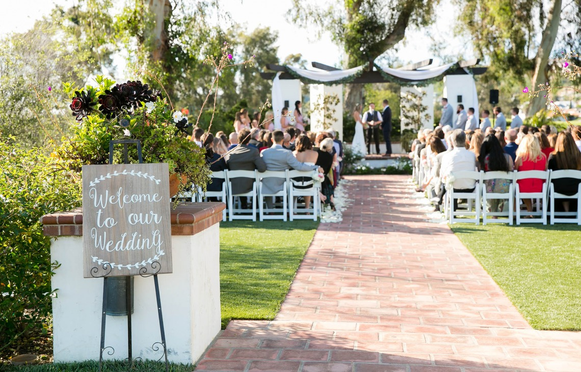 Outdoor ceremony site with plenty of rustic charm.