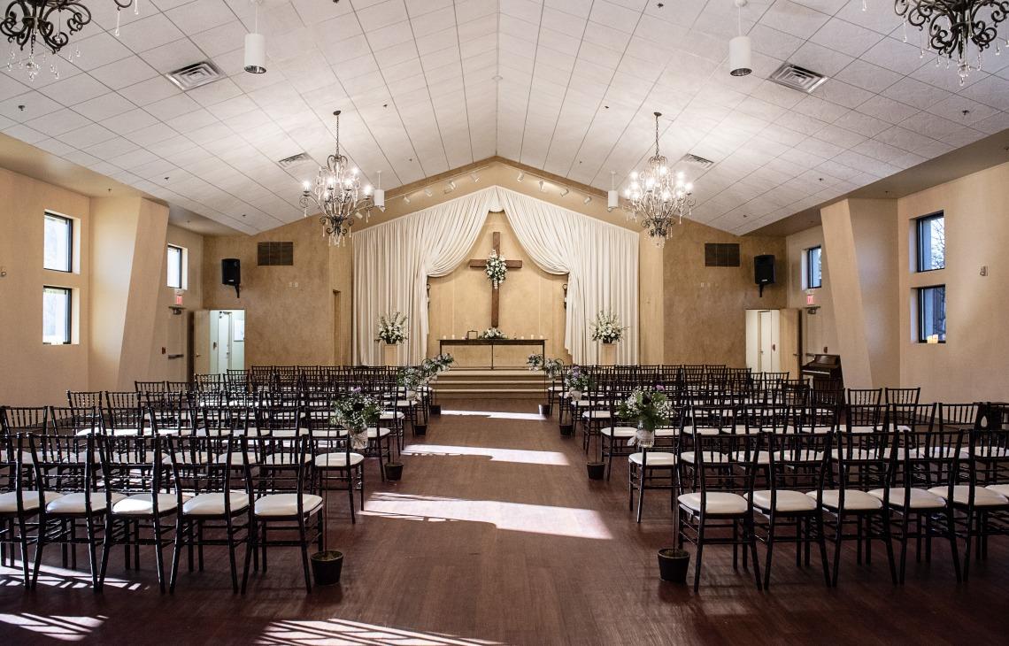 Indoor chapel ceremony site - Black Forest - Colorado Springs, Colorado - El Paso County - Wedgewood Weddings