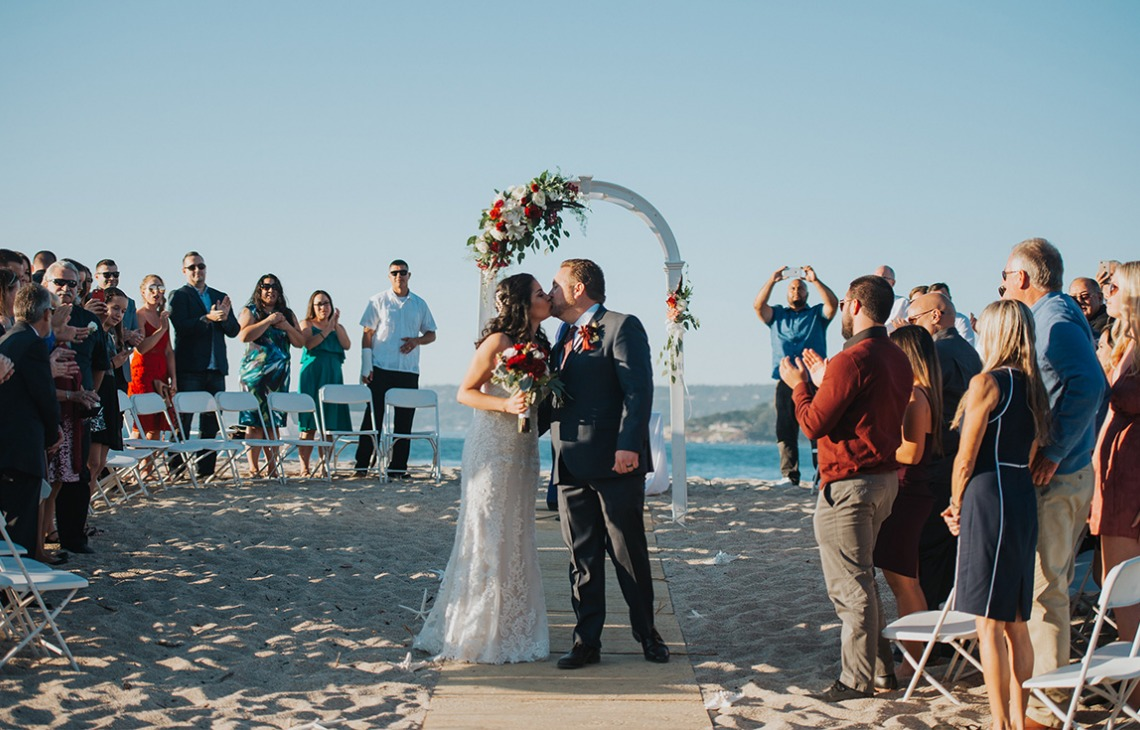 Beach ceremony in the Monterey Peninsula - Carmel - Carmel, California - Monterey County - Wedgewood Weddings