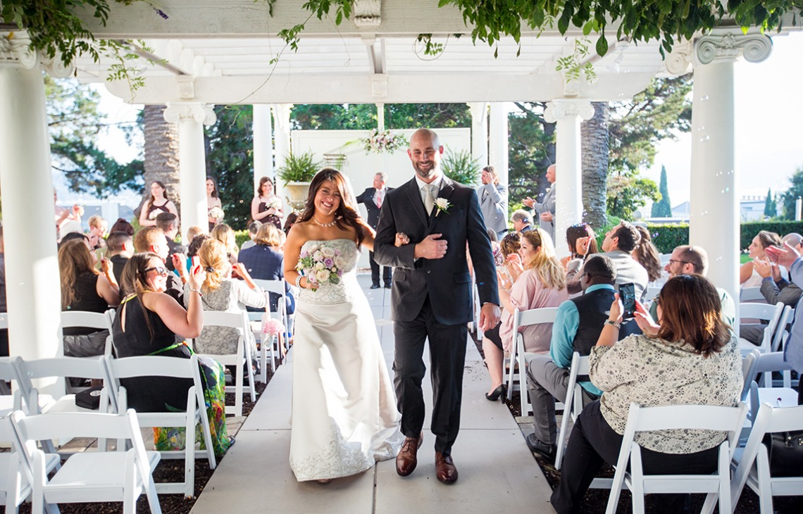 Outdoor ceremony - Jefferson Street Mansion - Benicia, California - Solano County - Wedgewood Weddings