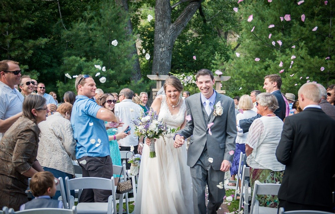 A lush ceremony space  - Boulder Creek - Boulder, Colorado - Boulder County - Wedgewood Weddings