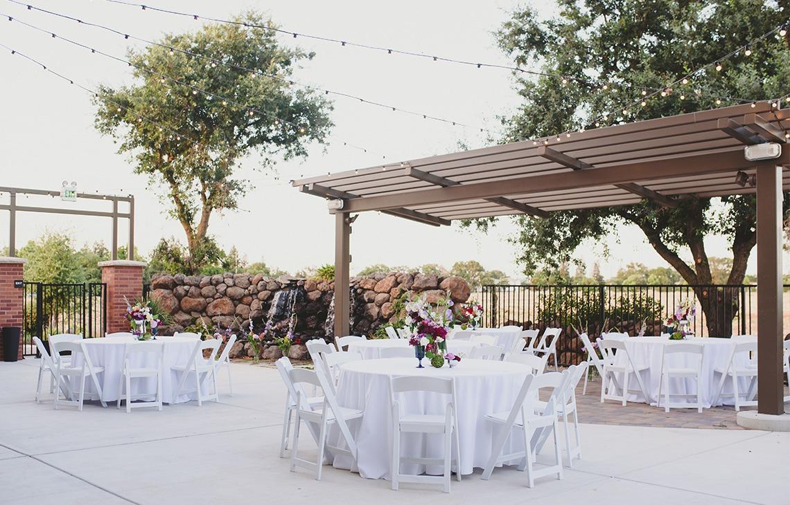 Outdoor wedding reception - Evergreen Springs - Elk Grove, California - Sacramento County - Wedgewood Weddings