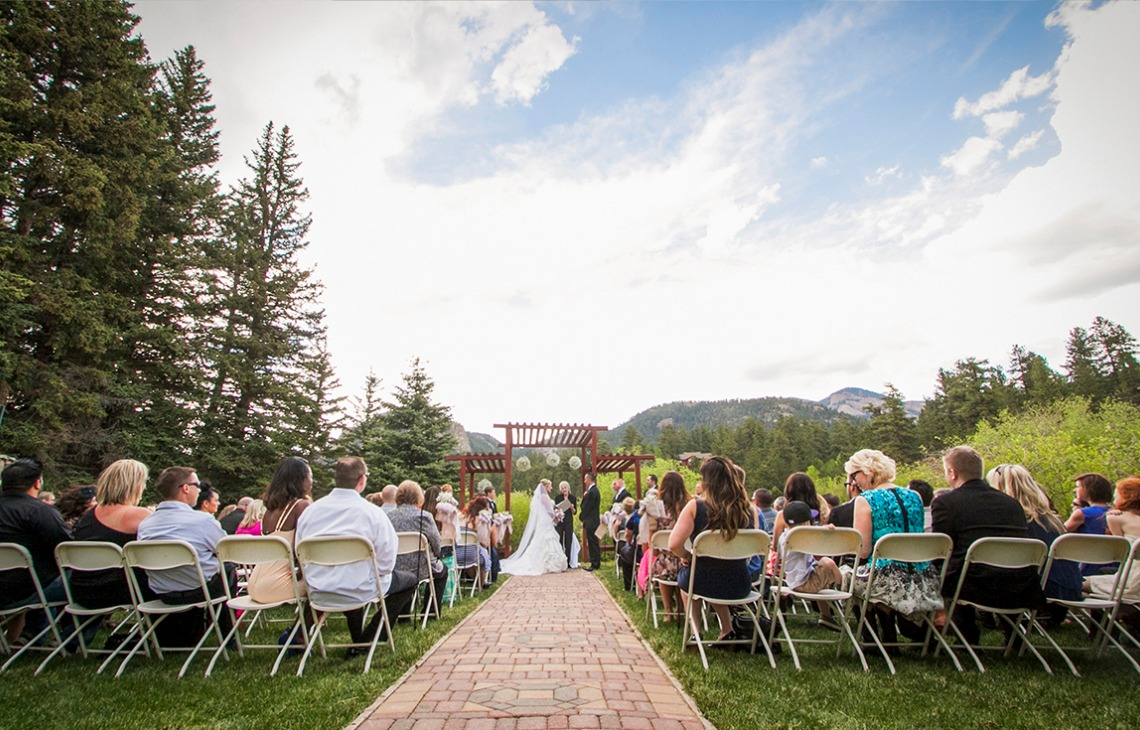 Stunning outdoor ceremony Mountain View Ranch - Pine, Colorado - Jefferson County - Wedgewood Weddings