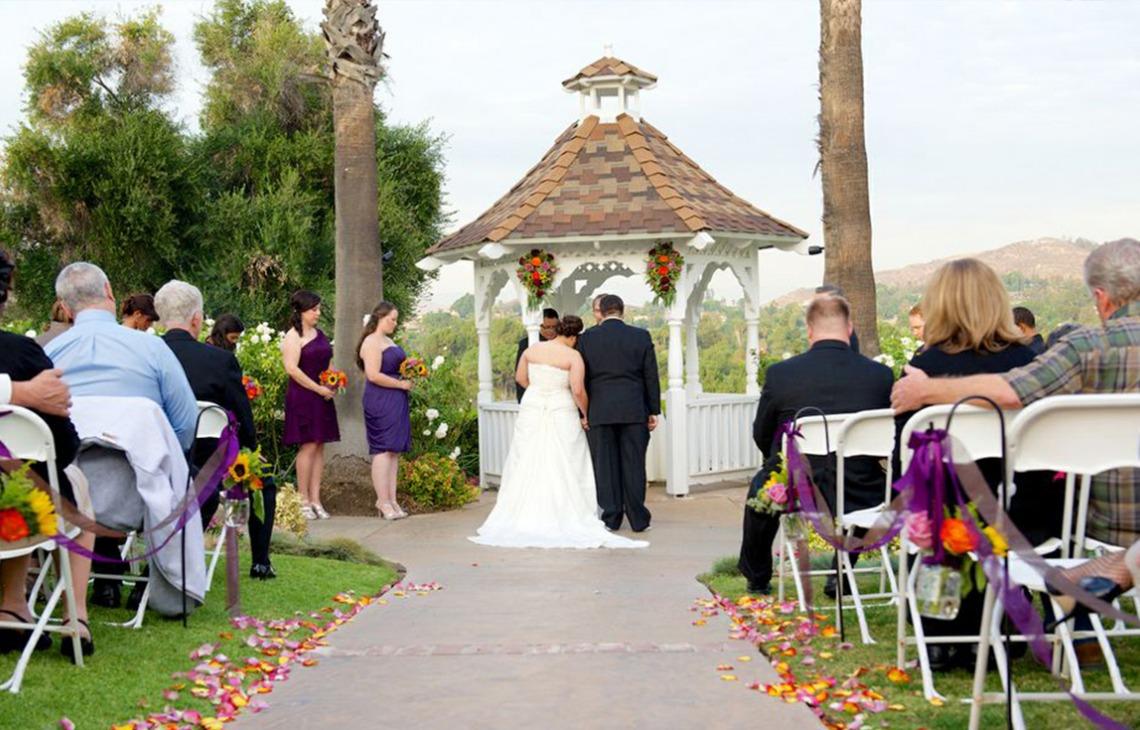 Outdoor Ceremony - Indian Hills - Riverside, California - Riverside County - Wedgewood Weddings