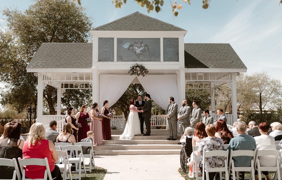 Two exquisite outdoor ceremony options - Lindsay Grove - Mesa, Arizona - Maricopa County - Wedgewood Weddings