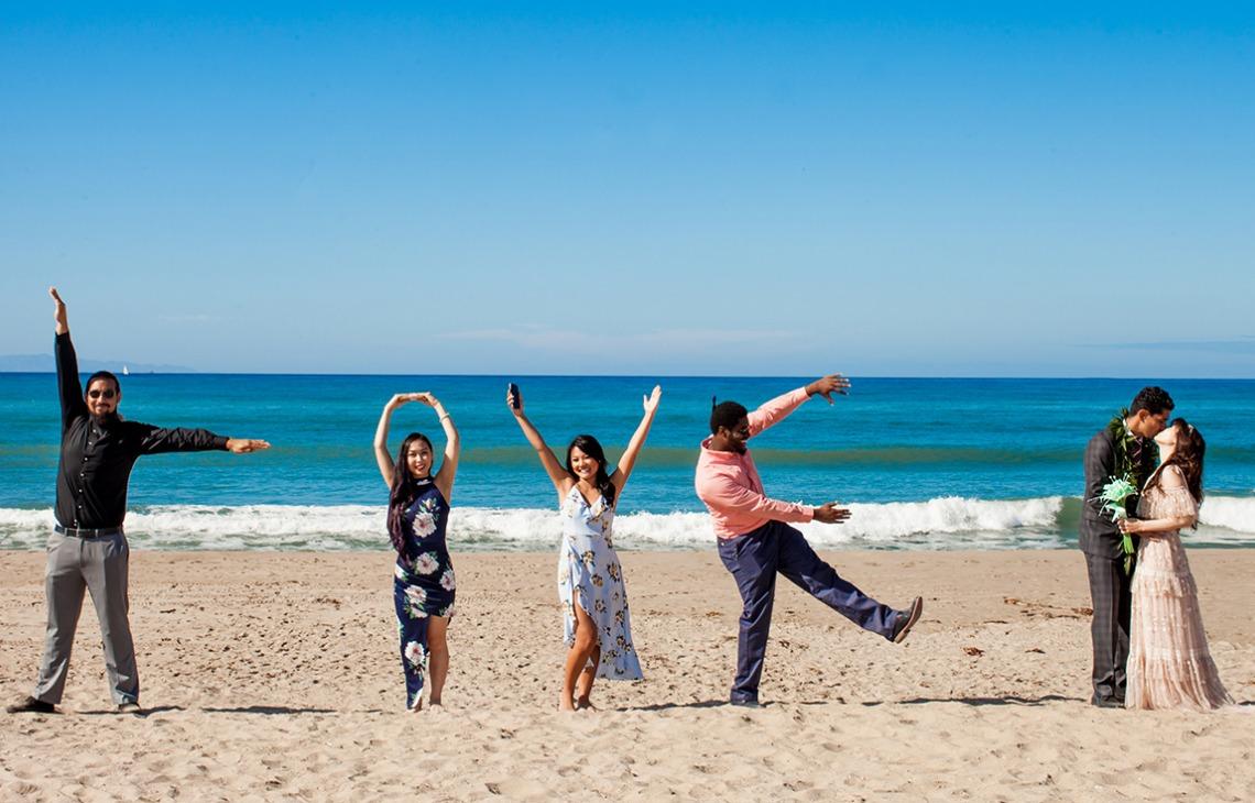 Beachy fun - Pacific View Tower Club - Oxnard, California - Ventura County - Beach Wedding - Wedgewood Weddings