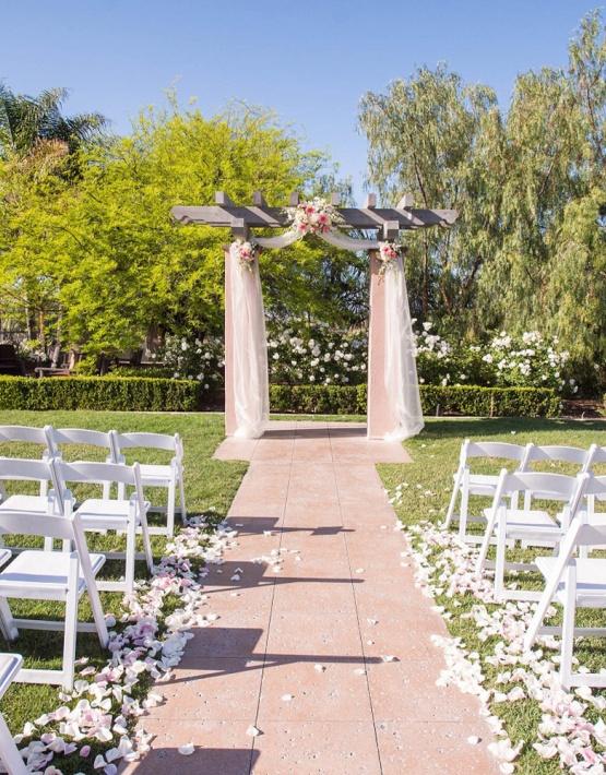 Romantic outdoor wedding ceremony - The Retreat - Corona, California - Riverside County - Wedgewood Weddings