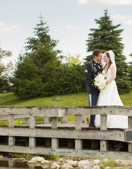 Scenic bridge for romantic photos - North Shore - Wadsworth, Illinois - Lake County - Wedgewood Weddings