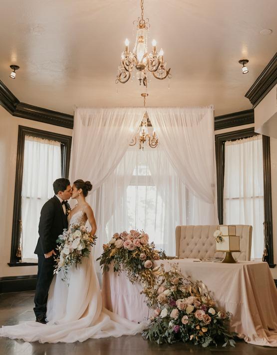 Romantic reception kiss - Sterling Hotel - Sacramento, California - Sacramento County - Wedgewood Weddings