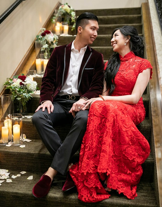 Smiling Couple - Vellano - Chino Hills, California - San Bernardino County - Wedgewood Weddings