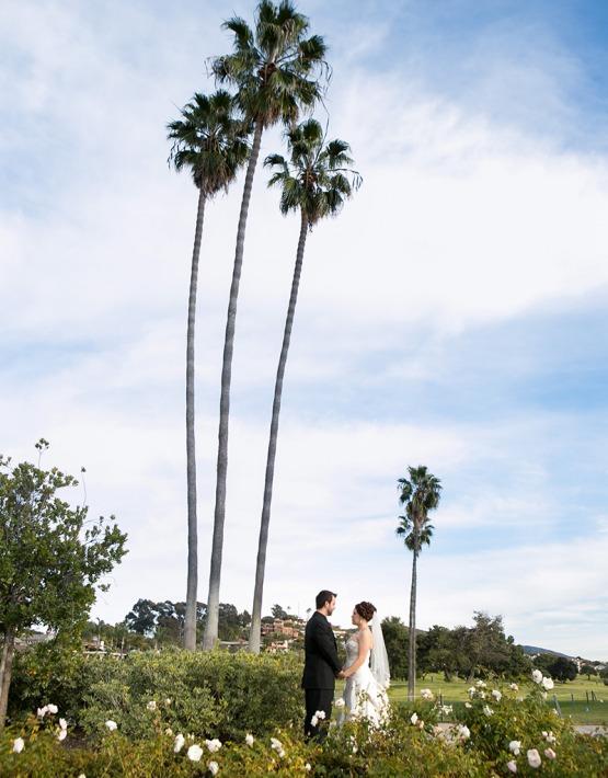 Couple by Palms - San Clemente - San Clemente, California - Orange County - Wedgewood Weddings