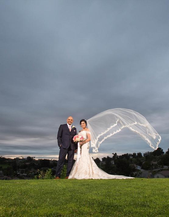 Windswept Couple - Indian Hills - Riverside, California - Riverside County - Wedgewood Weddings