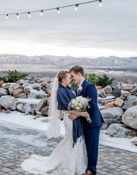 Snowy wedding - Ashley Ridge - Littleton, Colorado - Arapahoe County - Wedgewood Weddings