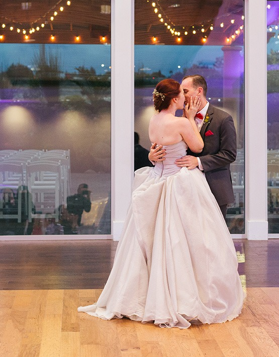 Bride and Groom dancing their first dance - Union Brick - Roseville, California, Placer County - Wedgewood Weddings