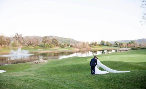 Couple by the pond - Fallbrook - Fallbrook, California - San Diego County - Wedgewood Weddings