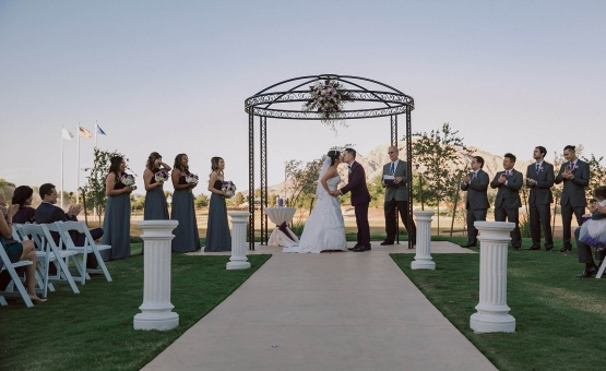 Garden Wedding Ceremony Site - Las Vegas - Las Vegas, Nevada - Clark County - Wedgewood Weddings