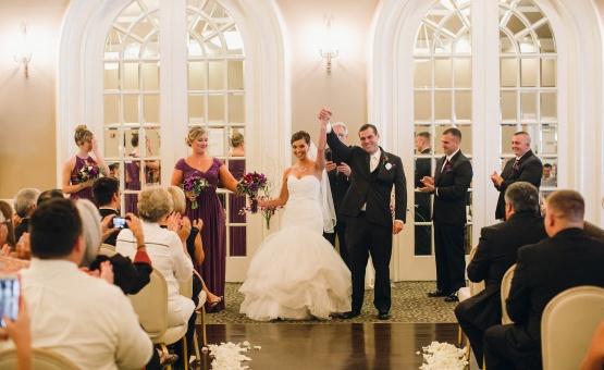Indoor ceremonies are elegant and stunning - Sterling Hotel - Sacramento, California - Sacramento County - Wedgewood Weddings