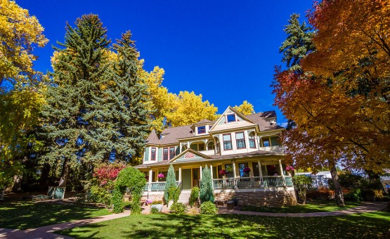 The House with fall leaves - Tapestry House - Laporte, Colorado - Larmier County - Wedgewood Weddings