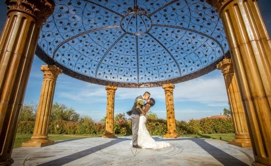 Gazebo for romantic portraits - Vellano - Chino Hills, California - San Bernardino County - Wedgewood Weddings