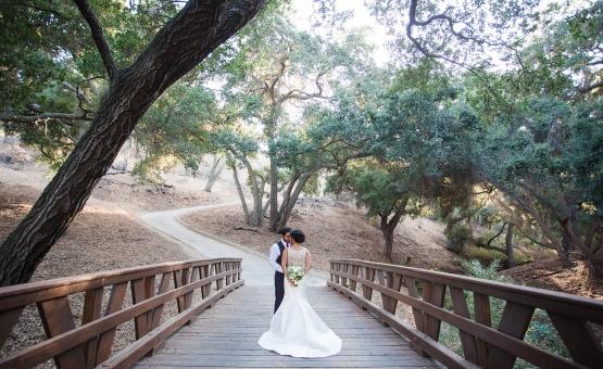 Bridge for romantic portraits - Vellano - Chino Hills, California - San Bernardino County - Wedgewood Weddings