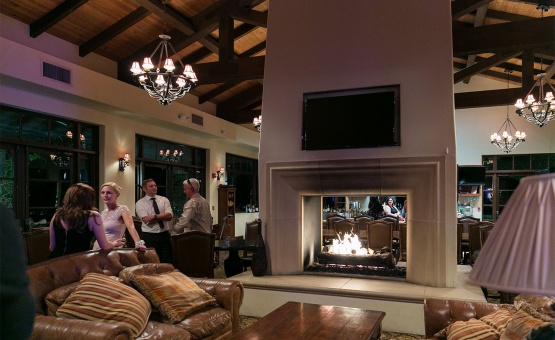 Fireplace bar lounge - Fallbrook - Fallbrook, California - San Diego County - Wedgewood Weddings