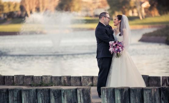 Beautiful lake backdrop - Brentwood - Brentwood, California - Contra Costa County - Wedgewood Weddings