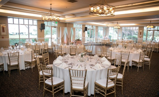 Beautifully enhanced setting featuring stunning views and wrought-iron chandelier - Brentwood - Brentwood, California - Contra Costa County - Wedgewood Weddings
