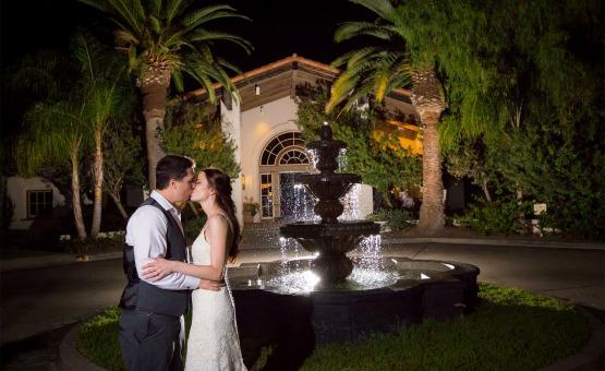 Gorgeous fountain backdrop - Menifee Lakes - Menifee, California - Riverside County - Wedgewood Weddings