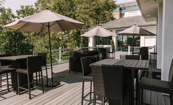 all-new outdoor patio - University Club - Irvine, California - Orange County - Wedgewood Weddings
