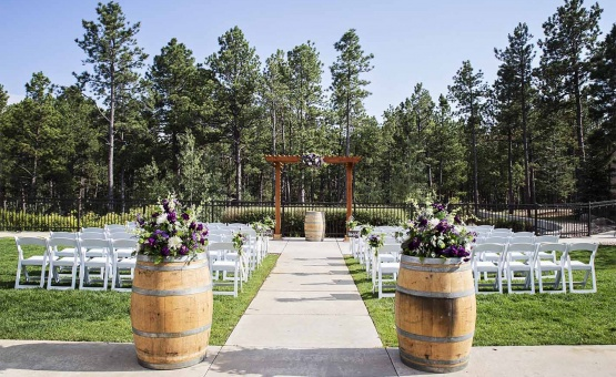 Gorgeous forest backdrop ceremony - Black Forest - Colorado Springs, Colorado - El Paso County - Wedgewood Weddings