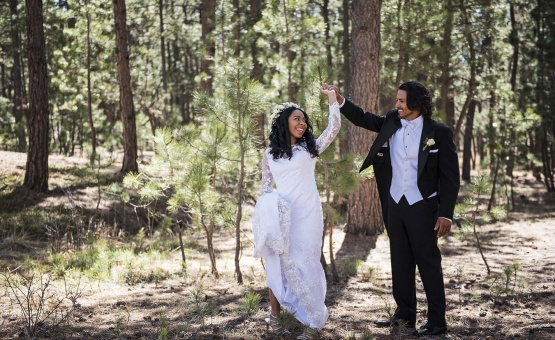Unique forest-setting backdrop - Black Forest - Colorado Springs, Colorado - El Paso County - Wedgewood Weddings