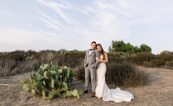 Couple looking into the future - University Club - Irvine, California - Orange County - Wedgewood Weddings
