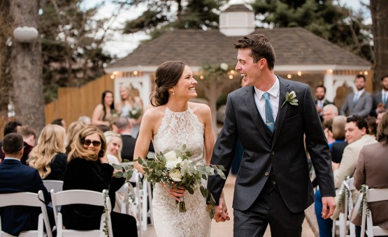 Happy Newlyweds - Tapestry House - Laporte, Colorado - Larmier County - Wedgewood Weddings
