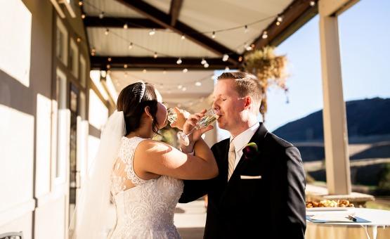 Champagne toast  - Ken Caryl - Littleton, Colorado - Arapahoe County - Wedgewood Weddings