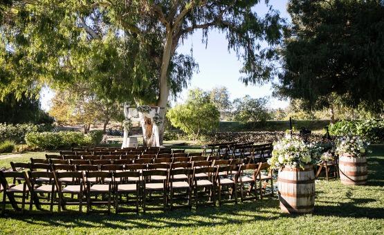 Outdoor ceremony space - Temecula, California - Riverside County - Wedgewood Weddings