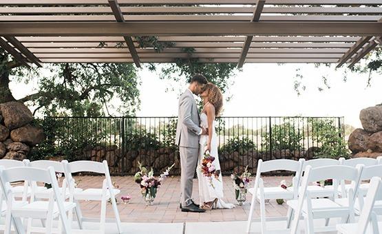 Bride and Groom at outdoor ceremony site - Evergreen Springs - Elk Grove, California - Sacramento County - Wedgewood Weddings