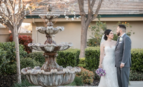 Picturesque water fountain - Brentwood - Brentwood, California - Contra Costa County - Wedgewood Weddings