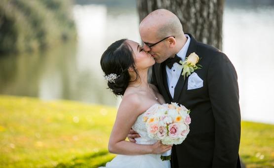 Kissing couple - San Ramon - San Ramon, California - Contra Costa County - Wedgewood Weddings
