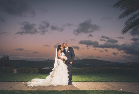 Romantic bride and groom - The Retreat - Corona, California - Riverside County - Wedgewood Weddings