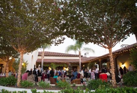 Courtyard with Bistro Lights - Fallbrook - Fallbrook, California - San Diego County - Wedgewood Weddings