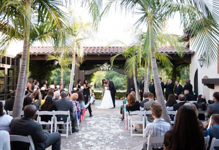 Outdoor ceremony - Fallbrook - Fallbrook, California - San Diego County - Wedgewood Weddings